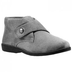 Propet Womens Sonia Slide SandalGrey Velour 11 2A US ** To view further for this item, visit the image link.