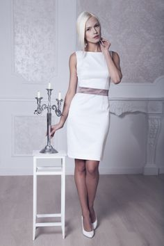 Civil Ceremony dress? Fitted Style Short Wedding Dress Short by ApilatCreativeAtelie, $225.00