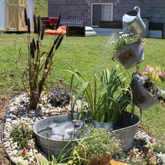 picture only - Watering Can Fountain