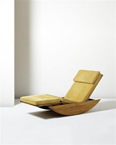 75, Adjustable rocking chaise longue, Joaquim Tenreiro, 1947.