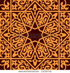 Arabic and islamic seamless ornament for background design. Jpeg (bitmap) version also available in gallery by Seamartini Graphics Media, via ShutterStock
