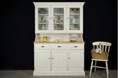Picture of Shaker Style Pine Display Dresser