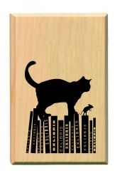 Idea for a card front. Cats and books go together...