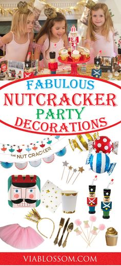 Fabulous Sugar Plum Fairy Party Ideas for a Magical Christmas Birthday Party!  If you are planning a Nutcracker Ballet Party for your girl, you are at the right place!  We have a gorgeous selection of Nutcracker Party Supplies!