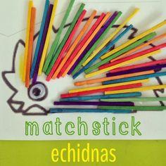 Australian animal - Echidna Art n Craft - Matchsticks