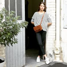 Bleu de Chauffe - Mini postman bag Pastel, Camel France Bleu, Ethical Fashion, Spring Fashion, Women Wear, Normcore, Street Style, Style Inspiration, How To Wear, Pastel