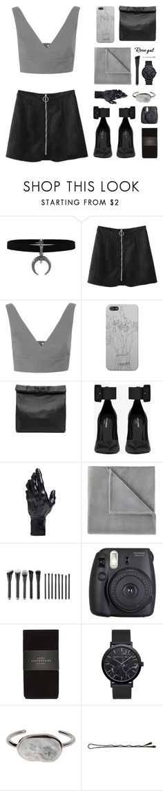 """gray area..."" by ruska-10 ❤ liked on Polyvore featuring Miu Miu, Marie Turnor, Yves Saint Laurent, D.L. & Co., Vellux, Fuji, Zara and Balenciaga"