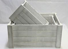 White one set #wooden #crates display plants fruits #storage easter gift hamper,  View more on the LINK: http://www.zeppy.io/product/gb/2/161658301143/