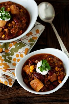 Hearty Chili - this was good, but not your traditional chili recipe. I enjoyed the potatoes in it.