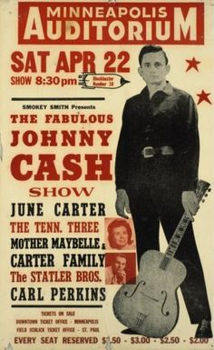 GigPosters.com - Johnny Cash - June Carter - Tenn 3 - Mother Maybelle - Carter Family - Statler Brothers - Carl Perkins