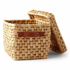 @Michael Dussert Dussert Graves Design Natural Corn Husk Storage Basket with Lid #HomeAtJCP