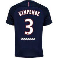 PSG Jersey 2016/17 Season Home Soccer Shirt #3 KIMPEMBE