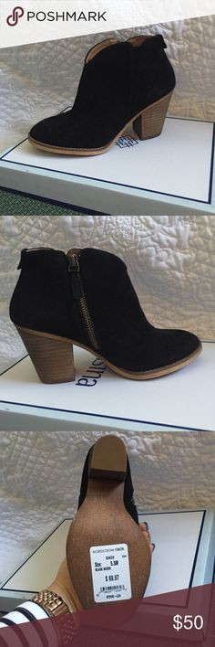 Black suede booties Never worn beautiful booties just in time for fall Shoes Ankle Boots & Booties