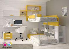Habitación Infantil: Dormitorio Infantil con Litera 303-592014 | Dormitorio Infantil con Litera.Los elementos que integran la presente composición son los sig