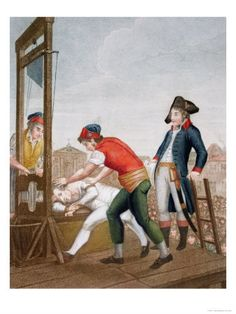 The execution of Robespierre on July 28, 1794 marked the end of the first Reign of Terror.