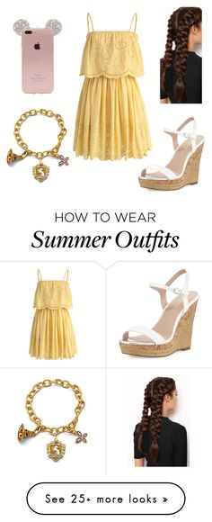 """""""Cute Spring/Summer Outfit"""" by poochie-lover on Polyvore featuring Chicwish, Charles by Charles David and LullaBellz"""