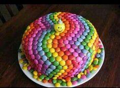 Rainbow Smarties Cake