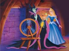 pages to color princess aurora touches spinning wheel - Google Search