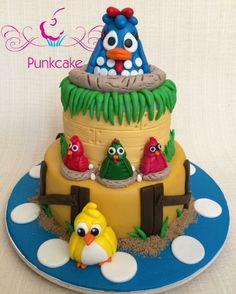 Bolo Artístico, Galinha Pintadinha  Punkcake (confeitaria) G.Alline