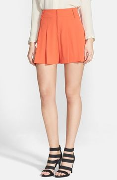 Alice+Olivia Flutter Shorts available at Nordstrom Pleated Shorts, High Waisted Shorts, Summer Shoes, Alice Olivia, Get Dressed, Warm Weather, Skater Skirt, Mini Skirts, Spring Summer