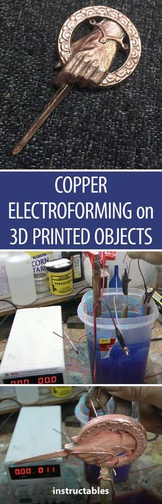 Copper Electroforming on 3d Printed PLA/ABS Objects