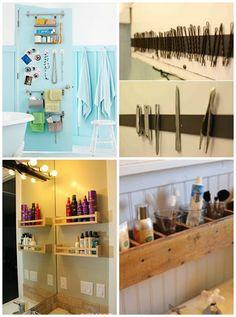 Organizar o banheiro | prateleiras