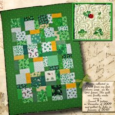 Quilt in a Day - St Patrick's day quilt - Quilting Photos - Community Forum