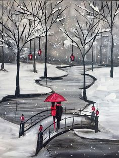 Join us for a Paint Nite event Wed Nov 2017 at 101 East Columbia Way Vancouv. - Duvar kağıtları,wallpaper - Join us for a Paint Nite event Wed Nov 2017 at 101 East Columbia Way Vancouver, WA. Winter Painting, Diy Painting, Painting & Drawing, Easy Canvas Painting, Red Umbrella, Christmas Paintings, Art Drawings Sketches, Pictures To Paint, Painting Inspiration