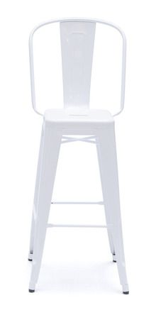 Tolix stoll with backrest. Available in colors or galvanized. For you DK.