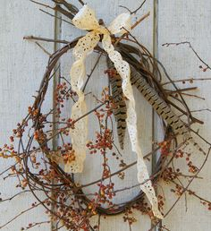 How to make nature wreaths