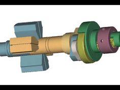▶ Vane Rotary Engine (Scissors Action Engine) - YouTube
