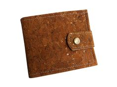 Men's Cork Wallet Vegan Wallet Bifold Wallet Men by CorkCraftsClay