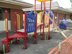 The construction process for the playground took a few weeks, but it all started to come together!