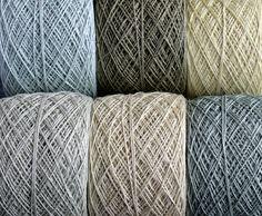 Leinen-Garn Thread--sechs Bälle--blass grün--3-fach