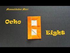 Origami - Papiroflexia. Número Ocho / Number Eight