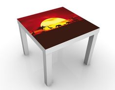 Design #Tisch No.CG80 Sunset Caravan 55x55x45cm #wohnzimmer #ideen #wohnen #relaxen #ruhe #essen #Besuch #Stube #Wandbild