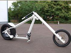 Vigilante style bike chopper from Germany Velo Design, Bicycle Design, Cruiser Bicycle, Motorized Bicycle, Bike Chopper, Lowrider Bicycle, Wood Bike, Push Bikes, Bike Frame