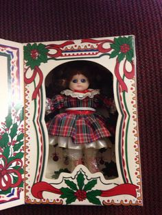 Marie Osmond Christmas Greeting Card Doll by by LooseChipsWoodWork