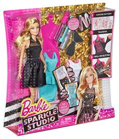 Barbie Sparkle Studio Doll - Includes THREE Outfits for you to Design - Ages Porcelain Dolls Value, Porcelain Dolls For Sale, Doll Clothes Barbie, Barbie Toys, Mattel Dolls, Barbie 2000, Made To Move Barbie, Doll Videos, Diy Barbie Furniture