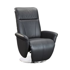 rosana black recliner swivel armchair