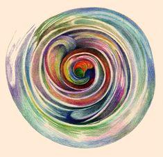 The Spiral Mandala Painting, Spiritual Painting Art, Inspirational Print on Canvas, Contemporary Artists, Alternative Wedding Gift, Yoga Art