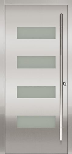 modern exterior door Milano-14 Stainless
