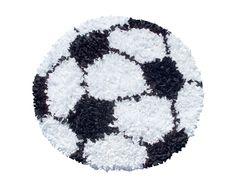 Soccer Ball Shaggy Raggy Rug Super Soft Rug Ideal for a Nursery, Kids Room or Playroom! Size: 3'x3'