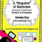 Help your students explore the features of nonfiction with this 30-page set.  This meets the Common Core Standard: Information Text {Craft  St...