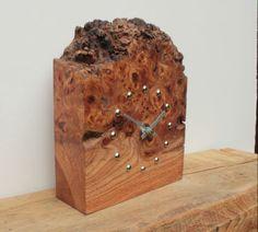 Rustic Elm Mantel Clock