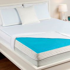 """The Hydraluxe™ Gel Mattress Pad enhances circulation for a massaging sleep. The Hydraluxe™ gel technology is the revolutionary solution for temperature-perfect sleep. The pad comes complete with a stretch-to-fit skirt that fits up to a 20"""" mattress. With a super soft, machine washable mesh cover, you're sure to sleep soundly, stay cool, and wake up feeling refreshed.The Hydraluxe™ Gel Mattress Pad is a solution to anyone who sleeps hot! This includes people who sleep on traditional ..."""