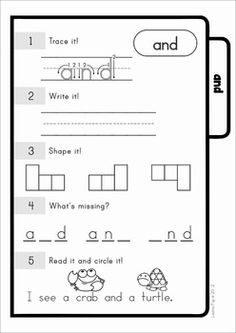 Sight Words - Word W