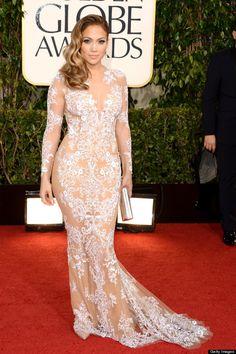 Jennifer Lopez Golden Globes 2017 Red Carpet In Zuhair Murad Robes Glamour