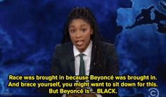Watch: Jessica Williams also explained how the message has been in Beyoncé's music all along. Jessica Williams, The Daily Show, Brown Skin, Beyonce, Messages, Music, Muziek, Musik, Brown Leather