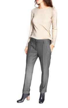 Anthracite wool Trousers from Prada